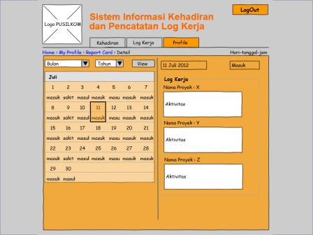 Sistem Informasi Kehadiran dan Log Kerja Pusilkom UI